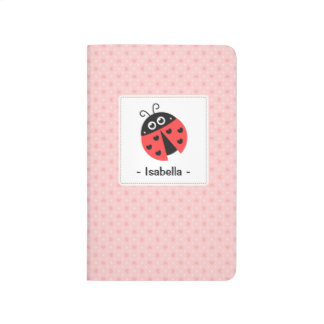 Niedlicher Marienkäfer mit Taschennotizbuch