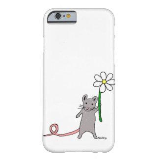 Niedlicher Mäuse-und Blumen-Kunst iPhone Fall Barely There iPhone 6 Hülle