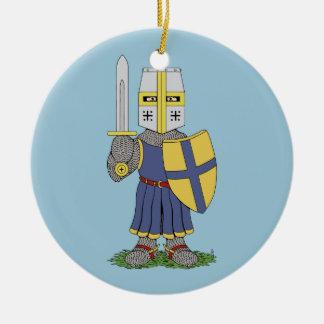Niedlicher mittelalterlicher Ritter Keramik Ornament