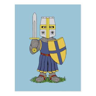 Niedlicher mittelalterlicher Ritter Postkarte