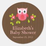 Niedlicher moderner Eulen-Baby-Duschen-Quadrat-Auf