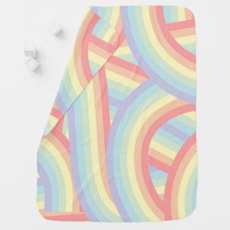 Niedlicher moderner Pastellregenbogen Stripes Baby Babydecke