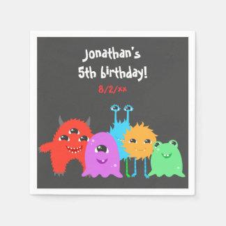 Niedlicher Monster-Geburtstag Papierserviette