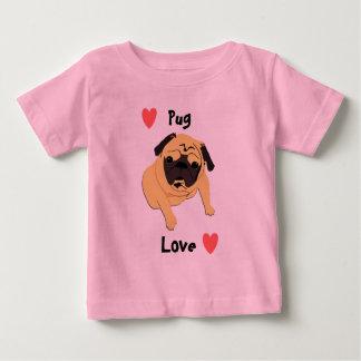 Niedlicher Mops-Liebe-Hund Baby T-shirt