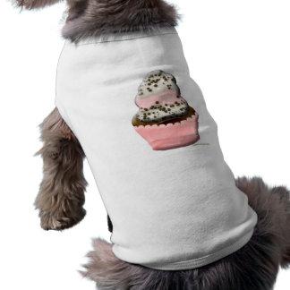 Niedlicher Muffinkuchen-Hundeshirt durch ORDesigns Ärmelfreies Hunde-Shirt