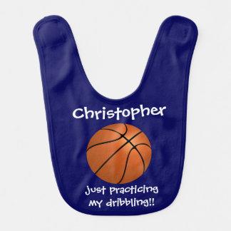 Niedlicher Name des Basketballs w, übendes Lätzchen