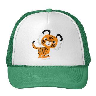 Niedlicher neugieriger Cartoon-Tiger-Hut Baseballkappen