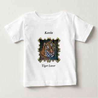 Niedlicher neugieriger cooler schauender Tiger Baby T-shirt