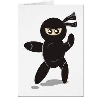 Niedlicher Ninja Krieger Karte