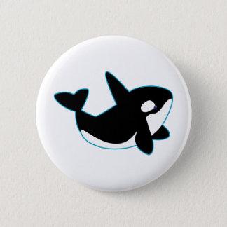Niedlicher Orca (Mörder-Wal) Runder Button 5,7 Cm