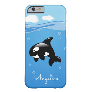 Niedlicher Orca-Wal im Ozean mit individuellem Barely There iPhone 6 Hülle