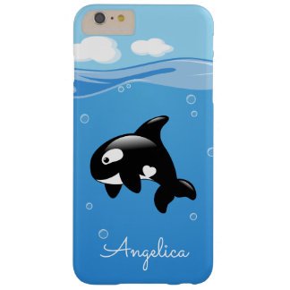 Niedlicher Orca-Wal im Ozean mit individuellem Barely There iPhone 6 Plus Hülle