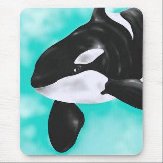 Niedlicher Orca-Wal Mousepad
