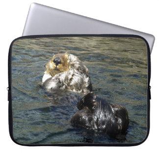Niedlicher Otter-Entwurf für Tier-Liebhaber Laptopschutzhülle