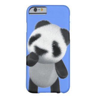 Niedlicher Panda 3d denkt (editable) Barely There iPhone 6 Hülle