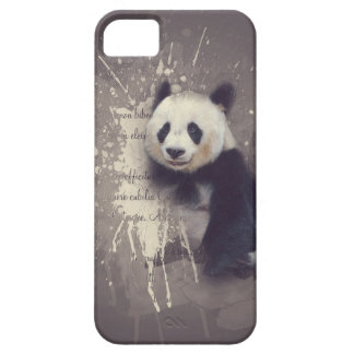 Niedlicher Panda abstrakt Barely There iPhone 5 Hülle