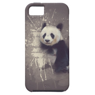 Niedlicher Panda abstrakt iPhone 5 Etui