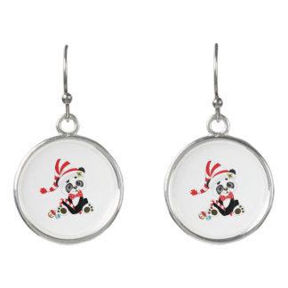 Niedlicher Panda am Weihnachten Ohrringe