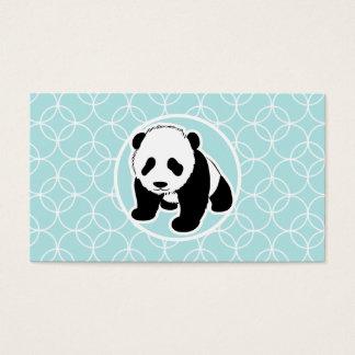 Niedlicher Panda auf Baby-Blau-Kreisen Visitenkarte
