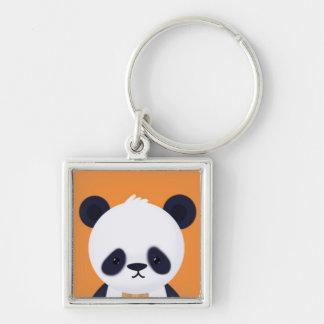 Niedlicher Panda auf orange BG Schlüsselanhänger