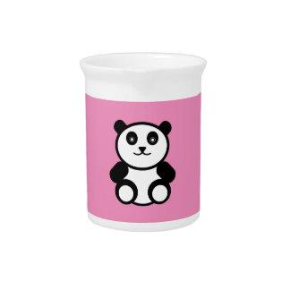 Niedlicher Panda auf Pastellrosa Krug