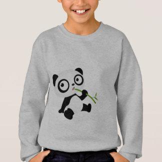 Niedlicher Panda, der einen Bambusstock isst Sweatshirt