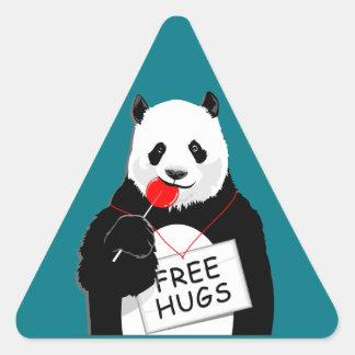 niedlicher Panda Dreieckiger Aufkleber