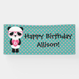 Niedlicher Panda-Geburtstag Banner