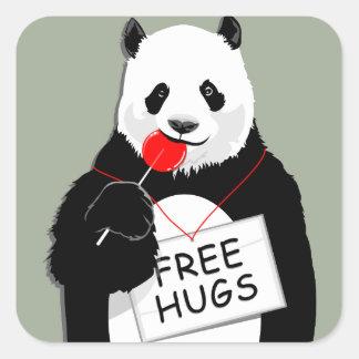 niedlicher Panda Quadratischer Aufkleber