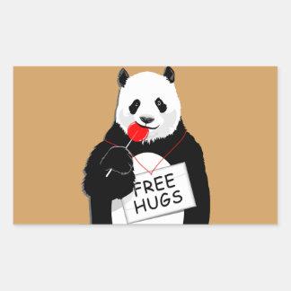 niedlicher Panda Rechteckiger Aufkleber