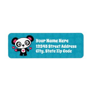Niedlicher Panda-Rücksendeadressen-Aufkleber