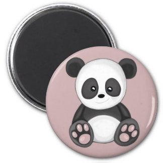Niedlicher Panda Runder Magnet 5,7 Cm