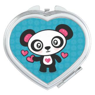 Niedlicher Pandavertragsspiegel Taschenspiegel