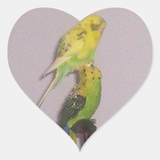 niedlicher Parakeet Herz Sticker