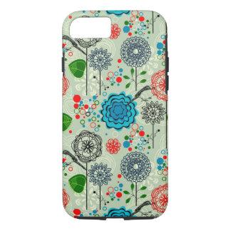 Niedlicher Pastell tont Retro Blumen-u. iPhone 8/7 Hülle