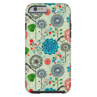 Niedlicher Pastell tont Retro Blumen-u. Tough iPhone 6 Hülle