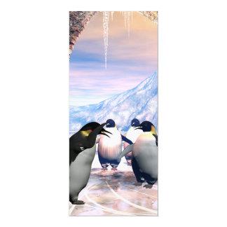 Niedlicher Penguin 10,2 X 23,5 Cm Einladungskarte