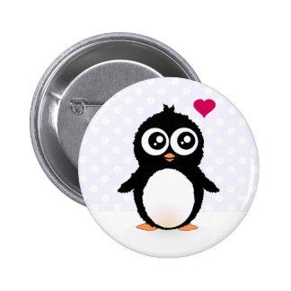 Niedlicher Penguin-Cartoon Runder Button 5,1 Cm