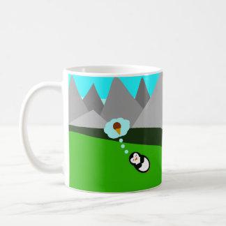 Niedlicher Penguin, der von der Eiscreme träumt Kaffeetasse