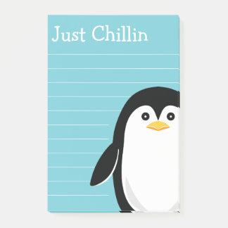Niedlicher Penguin gerade Chillin Post-it Klebezettel