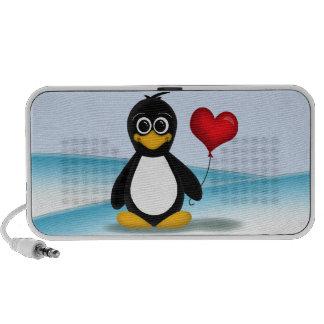 Niedlicher Penguin-Herz-Ballon - iPod Lautsprecher