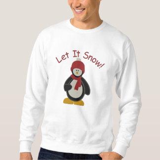 Niedlicher Penguin ließ es schneien Besticktes Sweatshirt