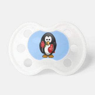 Niedlicher penguin-lustiger Cartoon des Valentines Schnuller