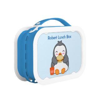 Niedlicher Penguin-Mittagessen-Kasten mit Brotdose