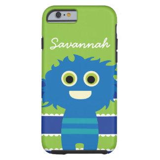 Niedlicher personalisierter blauer Limoner grüner Tough iPhone 6 Hülle