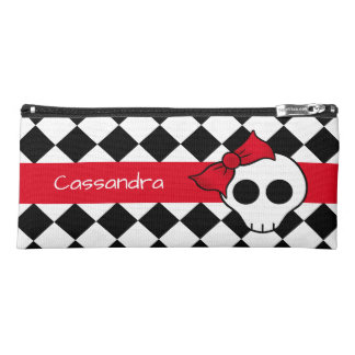 Cute personalized girly skull design