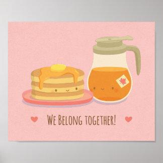 Niedlicher Pfannkuchen-und Poster