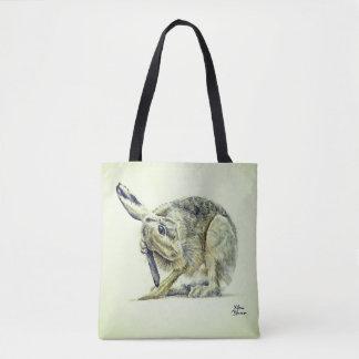 Niedlicher Pflegen Hase - Wasserfarbe - 2 in 1 Tasche