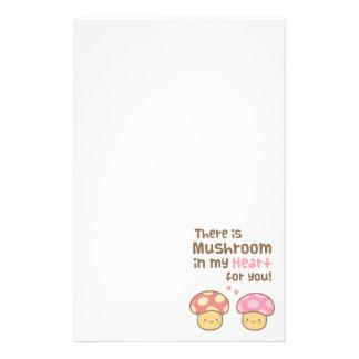 Niedlicher Pilz in meinem Herzen für Sie süßes Briefpapier