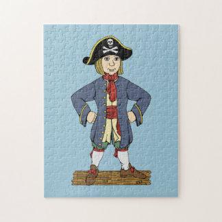 Niedlicher Piraten-junger Mann Puzzle